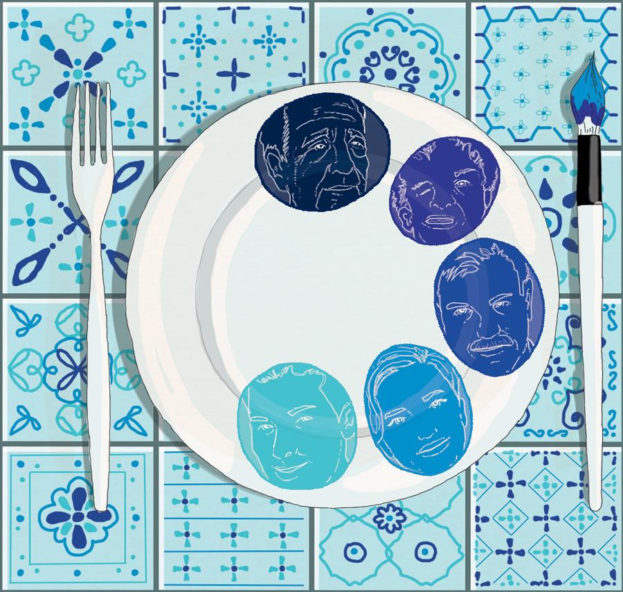 portogallo-lisbona-pranzare-tavola-lusitania-famiglia-colore-pittrice-libri-books-illustrazione-concettuale-conceptual-illustrations-corriere-della-sera-la-lettura-fabio-delvo-delvox