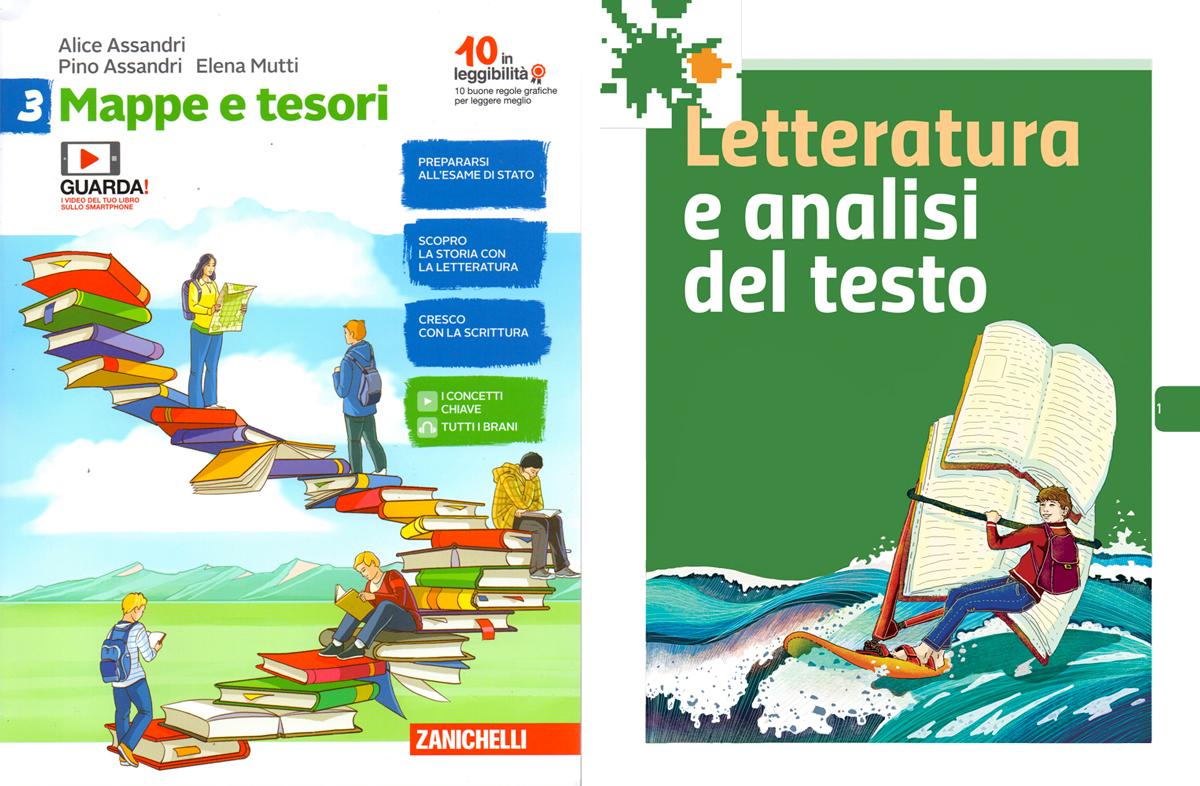 copertina-sezione-letteratura-analisi-testo-zanichelli-mappe-tesori-antologia-scolastica-illustrazioni-illustrations-fabio-delvo-delvox