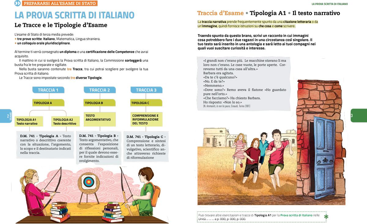 prepararsi-esame-terza-media-zanichelli-mappe-tesori-antologia-scolastica-illustrazioni-illustrations-fabio-delvo-delvox
