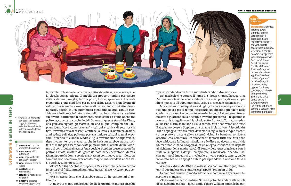 racconti-realismo-sociale-madre-bambina-doris-lessing-sezione-letteratura-analisi-testo-zanichelli-mappe-tesori-antologia-scolastica-illustrazioni-illustrations-fabio-delvo-delvox