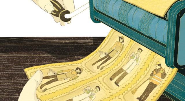 difesa-clima-difendere-lavoro-good-jobs-ecologia-verdi-politica-la-stampa-newspaper-editoriale-fabio-delvo-delvox-conceptual-illustrations-illustrazioni-concettuali-concettuale-publishing