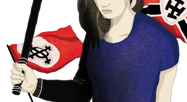 terrorismo-nazismo-europa-estrema-destra-violenza-neonazisti-politica-la-stampa-newspaper-editoriale-fabio-delvo-delvox-conceptual-illustrations-illustrazioni-concettuali-concettuale-publishing