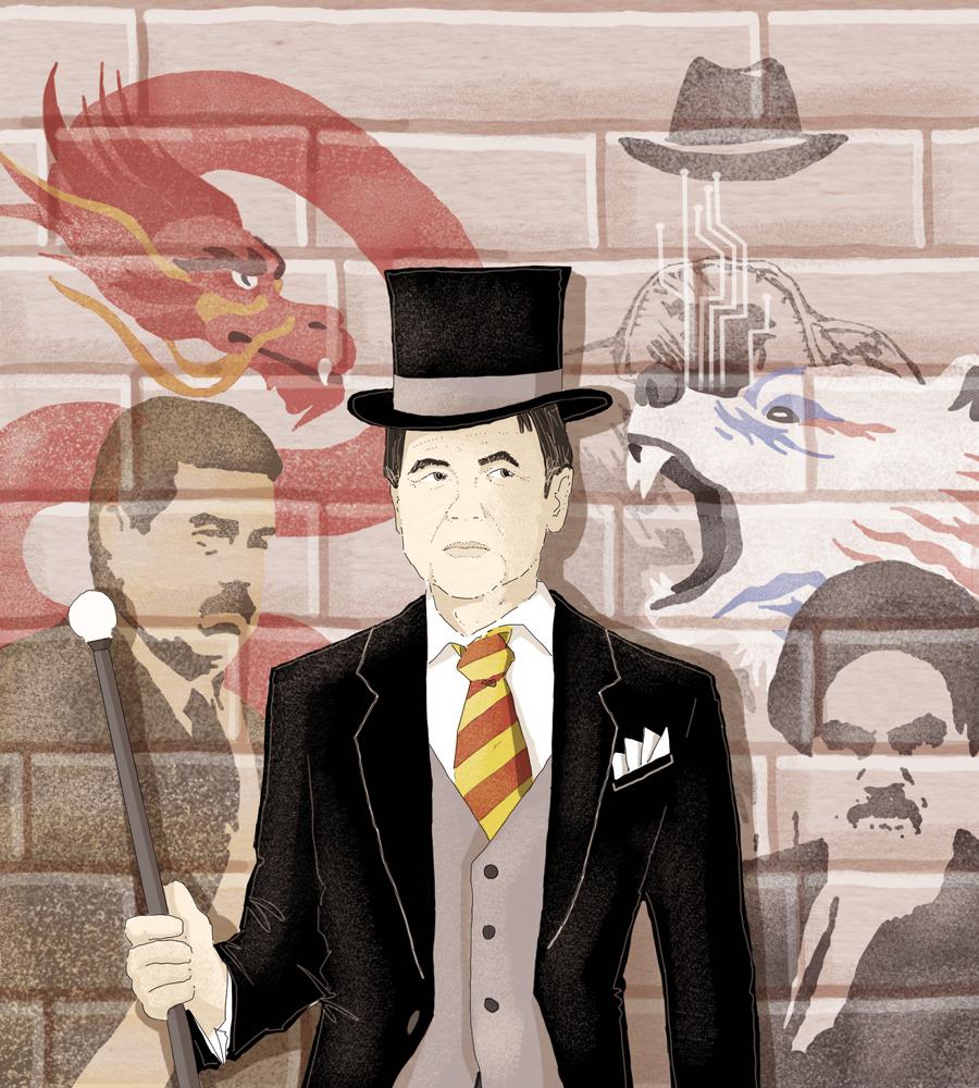 conte-bis-prova-nato-europa-sfide-venezuela-iran-cyber-russia-cina-italia-politica-la-stampa-newspaper-editoriale-fabio-delvo-delvox-conceptual-illustrations-illustrazioni-concettuali-concettuale