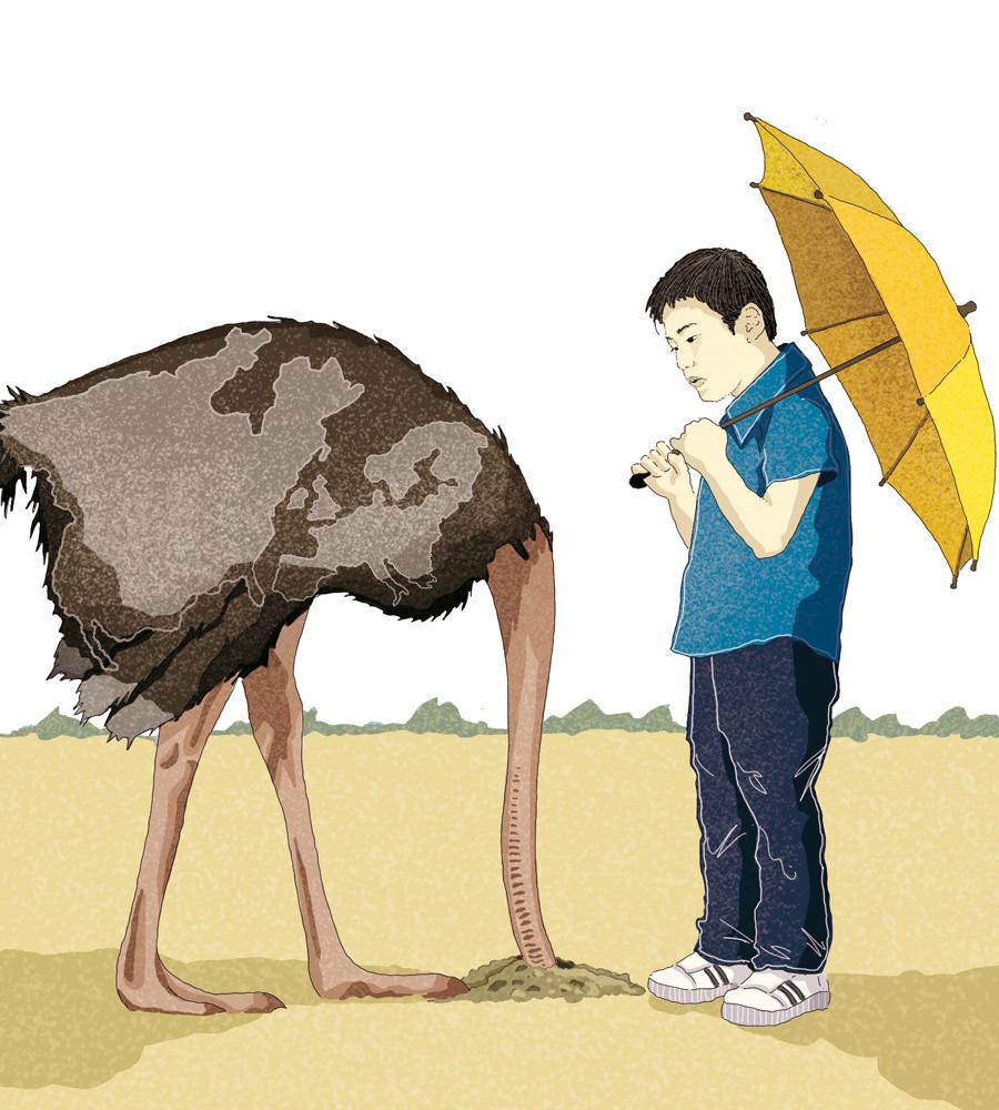 hong-kong-occidente-oriente-liberta%cc%80-diritti-cina-ombrelli-rivolta-politica-la-stampa-newspaper-editoriale-fabio-delvo-delvox-conceptual-illustrations-illustrazioni-concettuali-concettuale