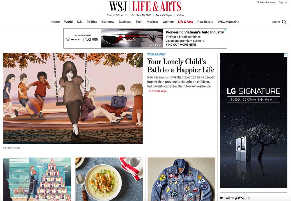 life-work-family-child-illustration-wsj-wall-street-journal-lifearts-publishing-newspaper-fabio-delvo-delvox-conceptual-illustrations