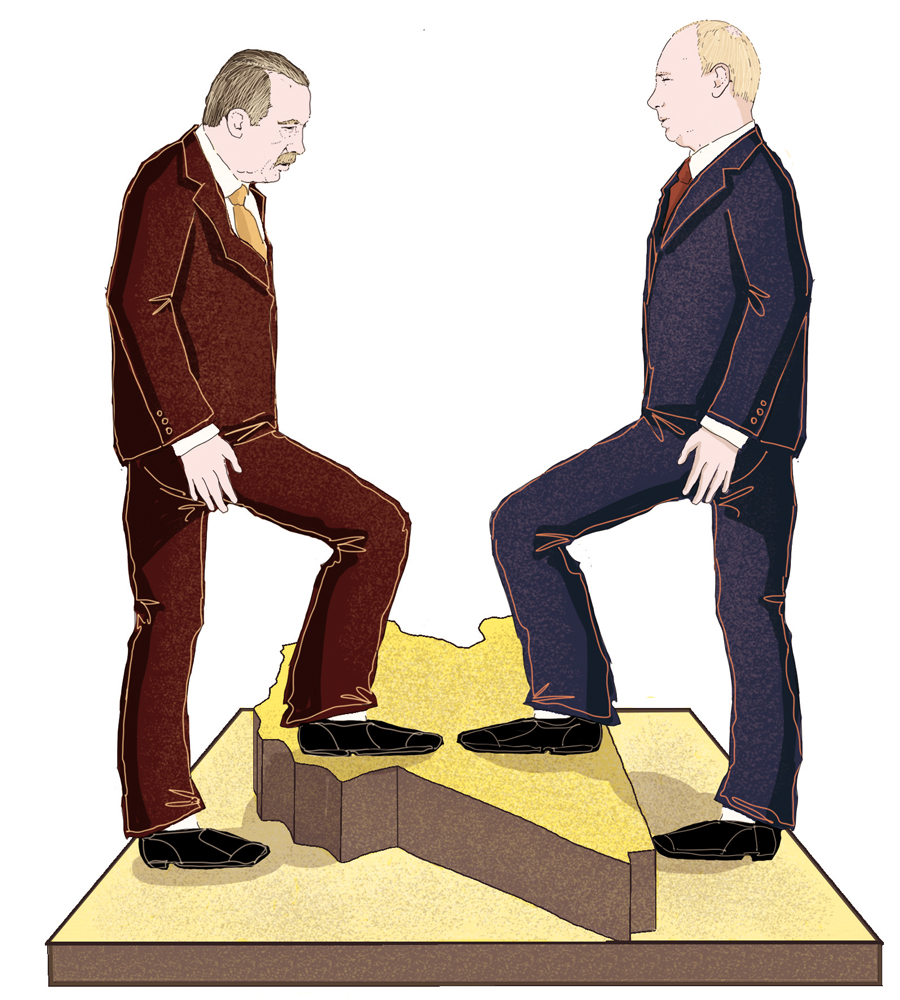 libia-guerra-turchia-erdogan-russia-putin-politica-la-stampa-newspaper-editoriale-fabio-delvo-delvox-conceptual-illustrations-illustrazioni-concettuali-concettuale-publishing