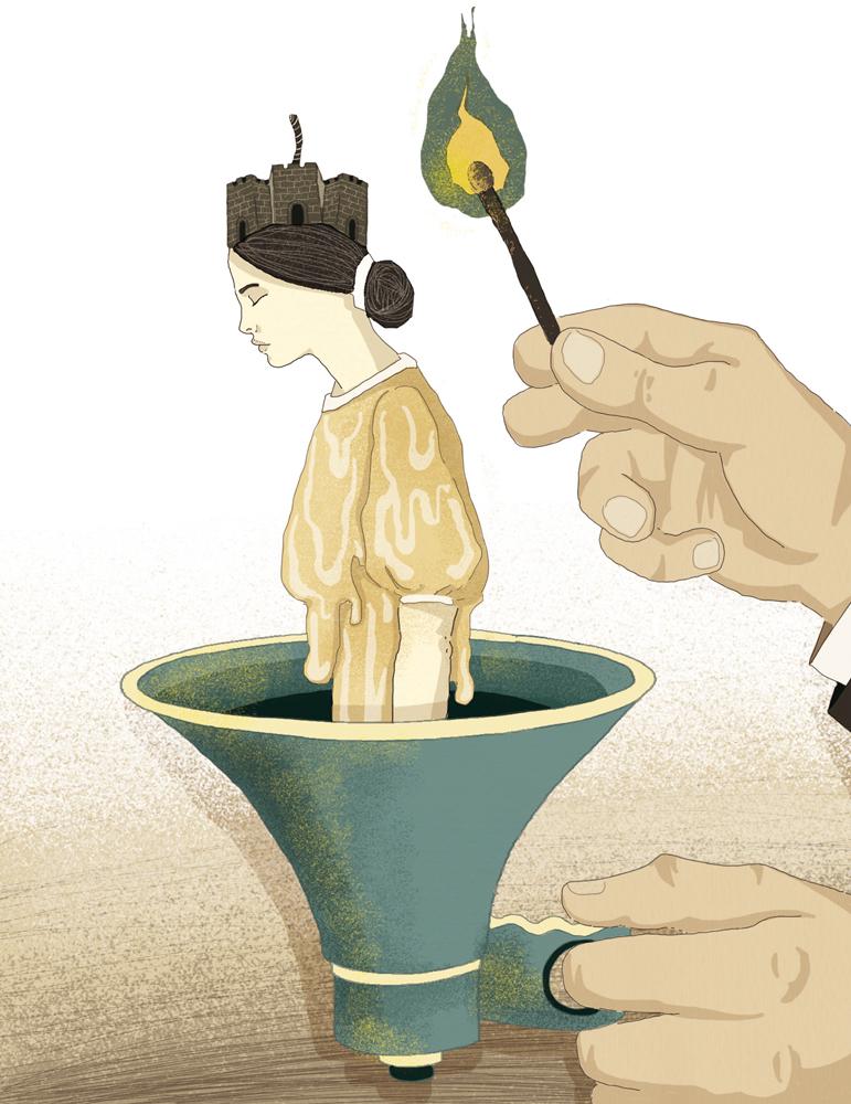 populismo-protesta-m5s-lega-italia-liquida-politica-la-stampa-newspaper-editoriale-fabio-delvo-delvox-conceptual-illustrations-illustrazioni-concettuali-concettuale-publishing
