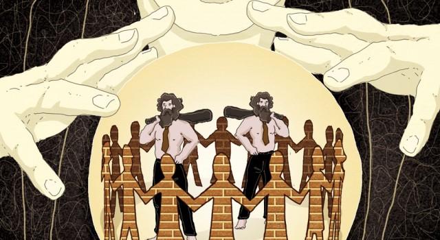 tribu-comunita-bivio-stato-liberale-europa-italia-politica-la-stampa-newspaper-editoriale-fabio-delvo-delvox-conceptual-illustrations-illustrazioni-concettuali-concettuale-publishing