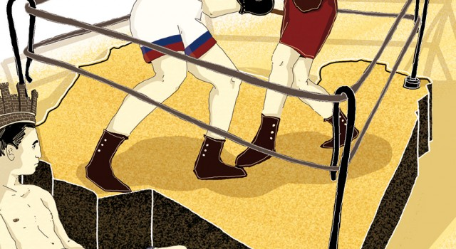 sfida-potenze-libia-tripoli-italia-russia-turchia-politica-la-stampa-newspaper-editoriale-fabio-delvo-delvox-conceptual-illustrations-illustrazioni-concettuali-concettuale-publishing