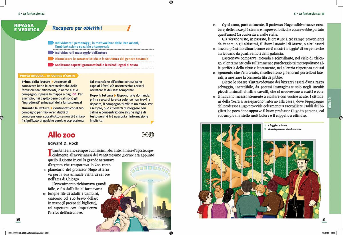 unita-1-fantascienza-compagni-di-viaggio-loescher-antologia-scuola-media-zoo-illustrazioni-illustrations-scolastica-fabio-delvo-delvox
