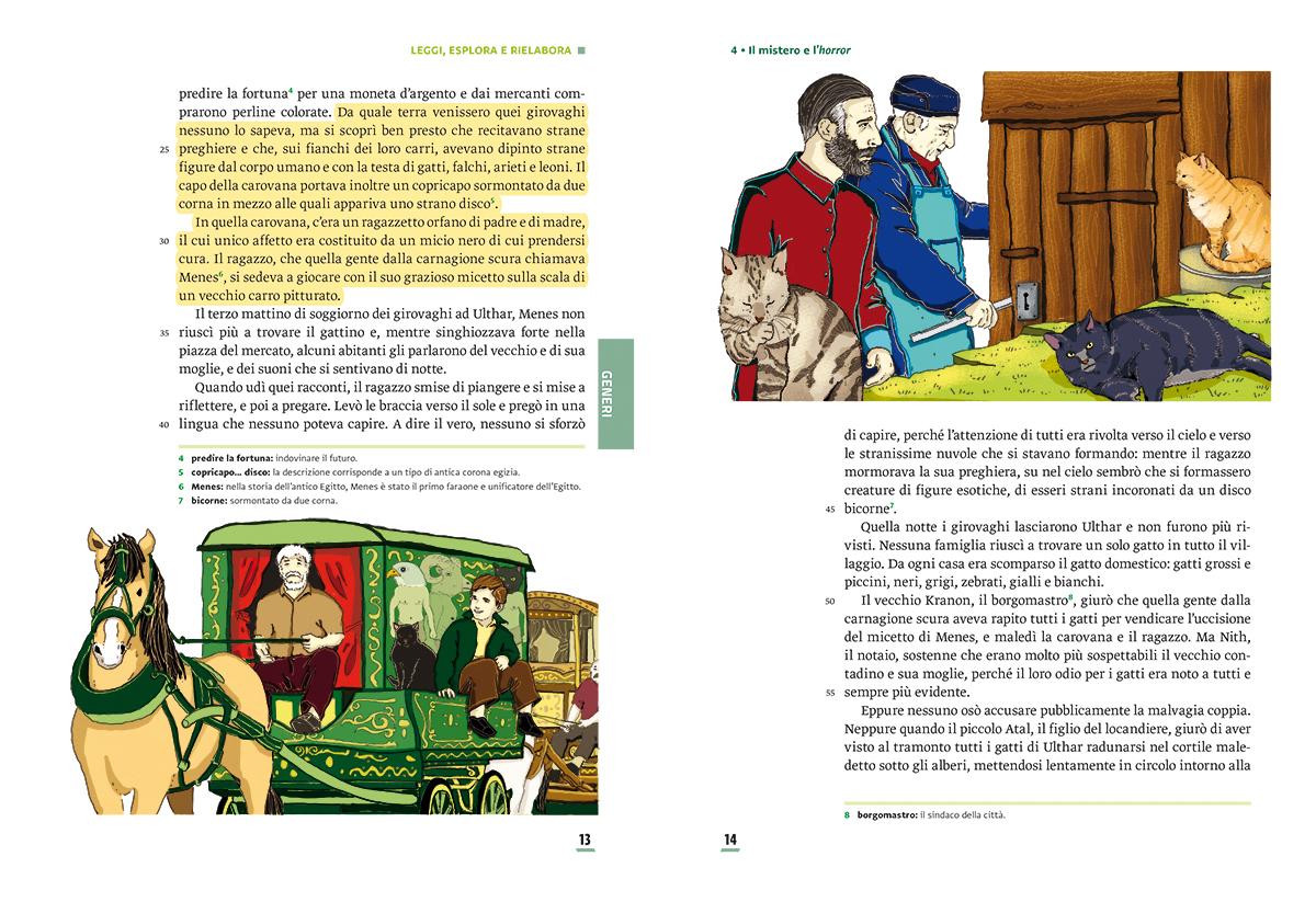 unita-4-mistero-horror-compagni-di-viaggio-loescher-antologia-scuola-media-gatti-di-ulthar-illustrazioni-illustrations-scolastica-fabio-delvo-delvox