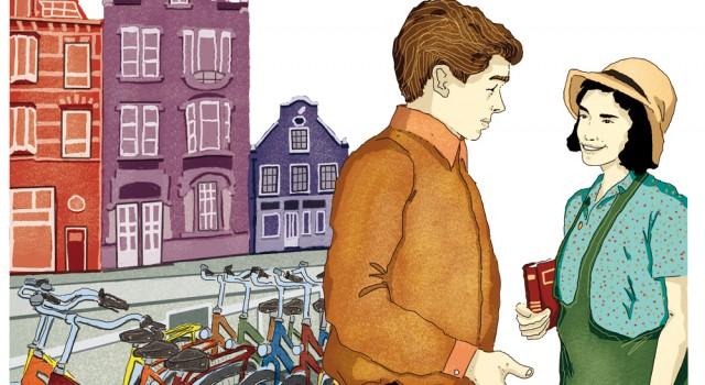 unita-7-diario-autobiografia-lettura-compagni-di-viaggio-loescher-antologia-scuola-media-anna-frank-illustrazioni-illustrations-scolastica-fabio-delvo-delvox