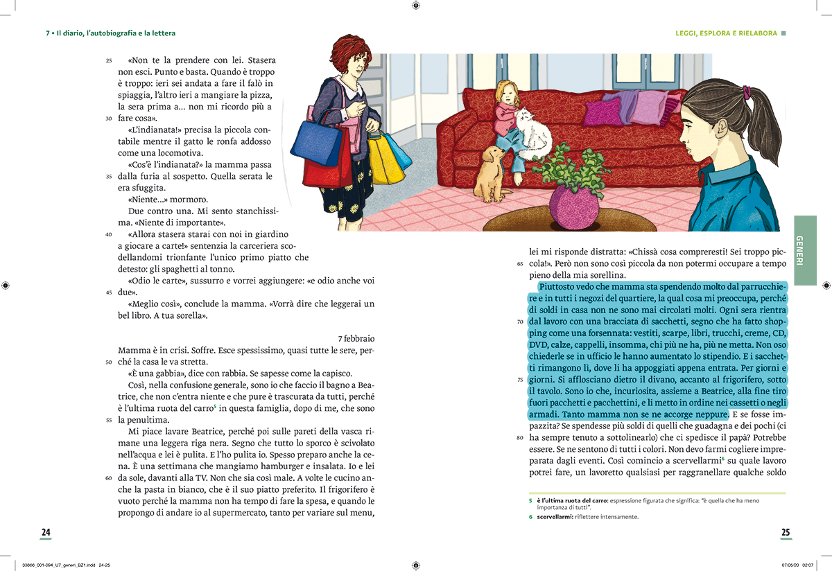 unita-7-diario-autobiografia-lettura-compagni-di-viaggio-loescher-antologia-scuola-media-investigatori-illustrazioni-illustrations-scolastica-fabio-delvo-delvox