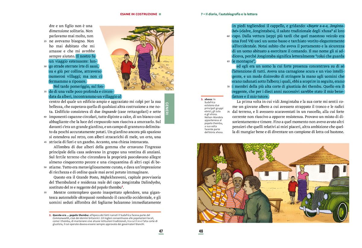 unita-7-diario-autobiografia-lettura-compagni-di-viaggio-loescher-antologia-scuola-media-nelson-mandela-illustrazioni-illustrations-scolastica-fabio-delvo-delvox