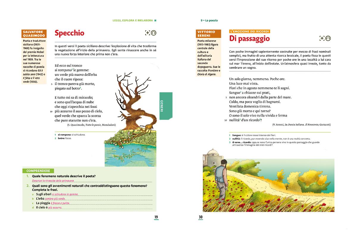 unita-9-poesia-compagni-di-viaggio-loescher-antologia-scuola-media-mare-tronco-ramo-passaggio-illustrazioni-illustrations-scolastica-fabio-delvo-delvox