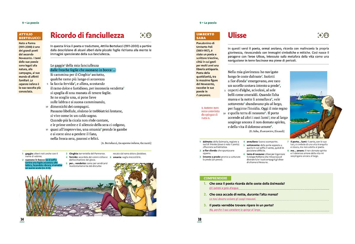 unita-9-poesia-compagni-di-viaggio-loescher-antologia-scuola-media-ulisse-fanciullezza-illustrazioni-illustrations-scolastica-fabio-delvo-delvox