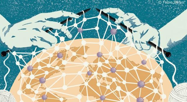 globalizzazione-coronavirus-antropologia-covid19-pandemia-letteratura-corriere-della-sera-la-lettura-illustrazione-illustrations-conceptual-concettuale-fabio-delvo-delvox-publishing-book