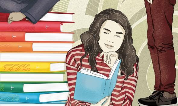 ragazzi-enciclopedia-treccani-letteratura-corriere-della-sera-la-lettura-illustrazione-illustrations-conceptual-concettuale-fabio-delvo-delvox-publishing-book